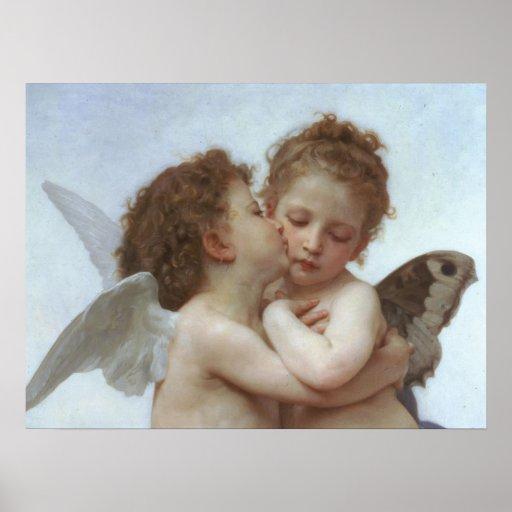 Amor und Psyche als Kinder Poster
