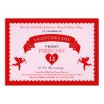 Amor-Valentinstag-Einladung