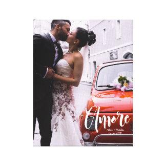 Amore, modernes Skript • Kundenspezifisches Foto, Leinwanddruck