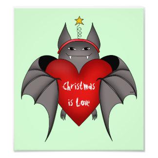 Amorous gotischer Weihnachtsschläger mit rotem Photographischer Druck