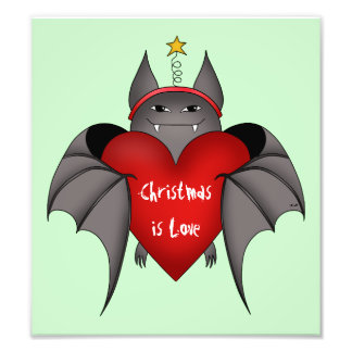 Amorous gotischer Weihnachtsschläger mit rotem Her Kunst Foto
