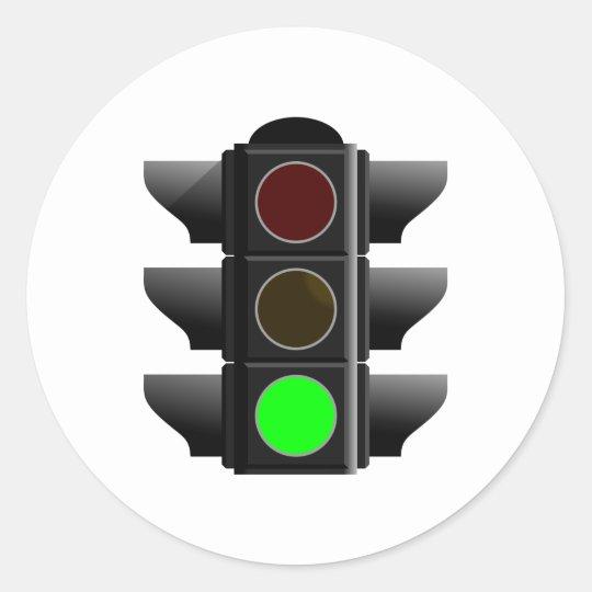Ampel traffic light grün green runder aufkleber