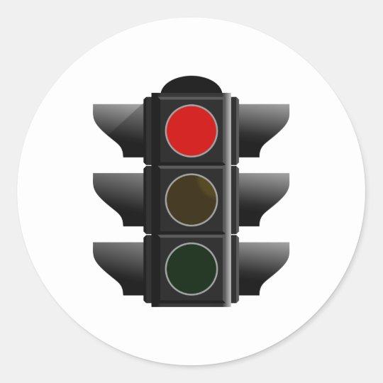 Ampel traffic light rot red runder aufkleber