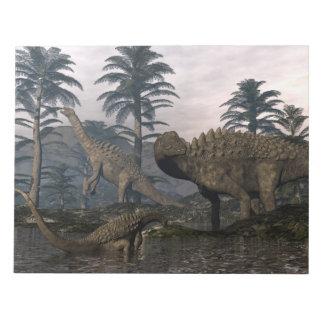 Ampelosaurusdinosaurier Notizblock