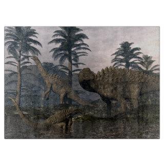 Ampelosaurusdinosaurier Schneidebrett