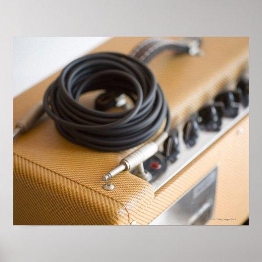 Ampere und Kabel Posterdruck