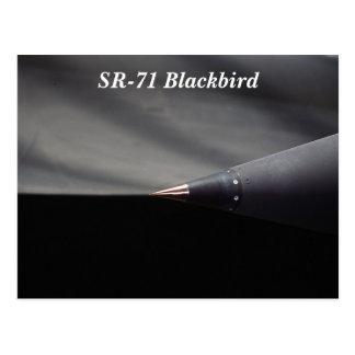 Amsel-Jet des Flugzeug-SR-71, der Spitze übersetzt Postkarte