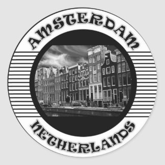 AMSTERDAM BLACK AND WHITE STICKERS