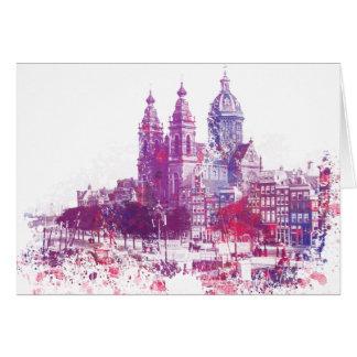 Amsterdam die Kirche von Sankt Nikolaus Karte