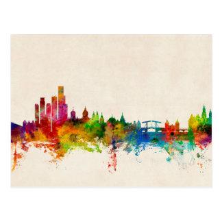 Amsterdam die niederländischen Skyline Postkarte