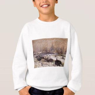 Amsterdam im Schnee durch Claude Monet Sweatshirt
