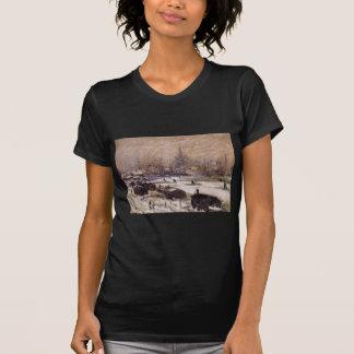 Amsterdam im Schnee durch Claude Monet T-Shirt