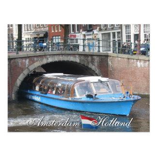 Amsterdam-Kanal-Boots-Ausflug-Postkarte