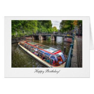 Amsterdam-Kanal-Szene - alles Gute zum Geburtstag