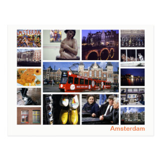 Amsterdam Multibild Postkarte