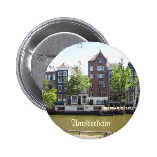 Amsterdam pinback Knopf Runder Button 5,7 Cm
