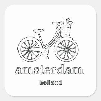 Amsterdam Quadratischer Aufkleber