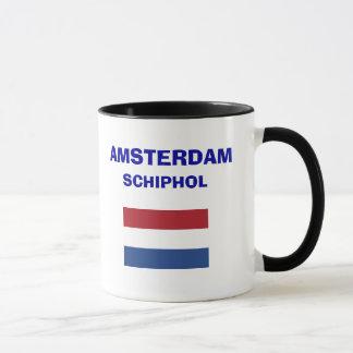 Amsterdam Schiphol AMS-Flughafen-Code-Tasse Tasse