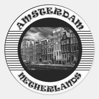 AMSTERDAM SCHWARZWEISS STICKER