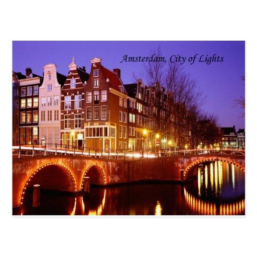 Amsterdam, Stadt der Lichter (durch St.K.) Postkarten