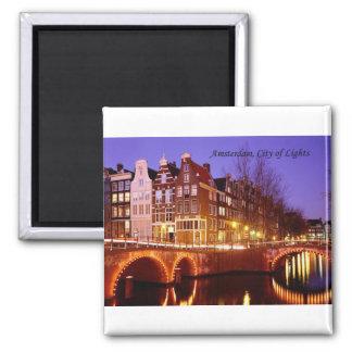 Amsterdam, Stadt der Lichter (durch St.K.) Quadratischer Magnet