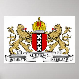 Amsterdam-Wappen Posterdruck