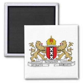 Amsterdam-Wappen Quadratischer Magnet