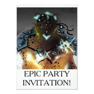 Amur-Eis Mage episches Party Invatations Karte