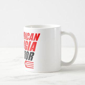 AMW 11 Unze-Kaffee-Tasse mit rotem u. schwarzem Kaffeetasse