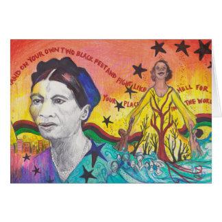 Amy Jacques Garvey, mit Umschlag Karte