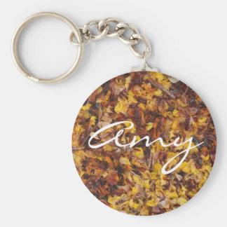 Amy keychain mit Blattsänftehintergrund Schlüsselanhänger