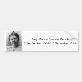 Amy Marcy Cheney Strand 1908 Autoaufkleber