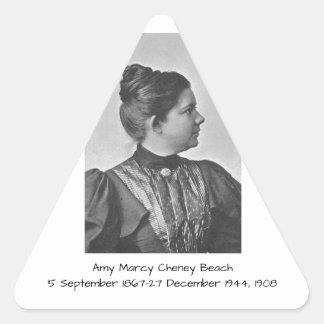 Amy Marcy Cheney Strand 1908 Dreieckiger Aufkleber