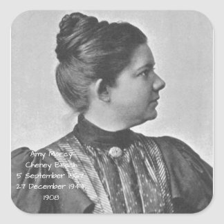 Amy Marcy Cheney Strand 1908 Quadratischer Aufkleber