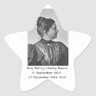 Amy Marcy Cheney Strand 1908 Stern-Aufkleber