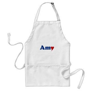 Amy mit Herzen Schürze