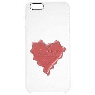 Amy. Rotes Herzwachs-Siegel mit NamensAmy Durchsichtige iPhone 6 Plus Hülle
