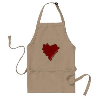 Amy. Rotes Herzwachs-Siegel mit NamensAmy Schürze