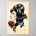 Amy-Sinti und Roma-traditioneller Tätowierungs-Dru Posterdrucke
