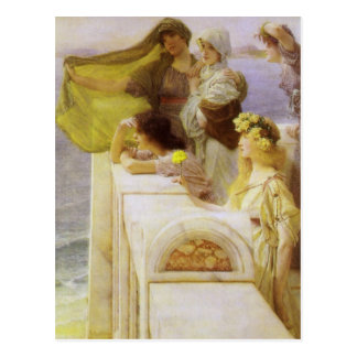 An der Wiege der Aphrodite durch Sir Lawrence Alma Postkarte