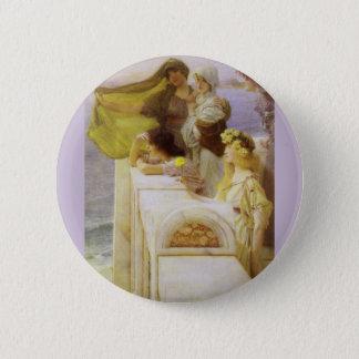 An der Wiege der Aphrodite durch Sir Lawrence Alma Runder Button 5,1 Cm