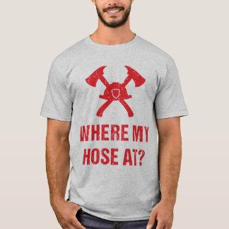 An Feuerwehrmann wo mein Schlauch? Lustig T-Shirt