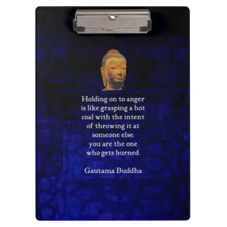 An halten, zum inspirierend Buddha-Zitats zu Klemmbrett