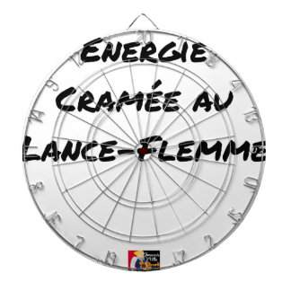 AN LANCE-FLEMME ANGEBRANNTE ENERGIE - Wortspiele Dartscheibe