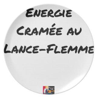 AN LANCE-FLEMME ANGEBRANNTE ENERGIE - Wortspiele Melaminteller
