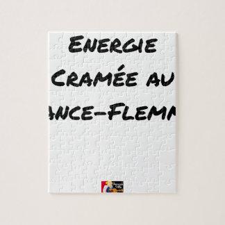 AN LANCE-FLEMME ANGEBRANNTE ENERGIE - Wortspiele Puzzle