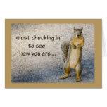 An Sie denken, Eichhörnchen Grußkarte