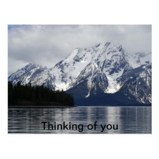 An Sie denken, großartiger Teton Nationalpark Postkarte