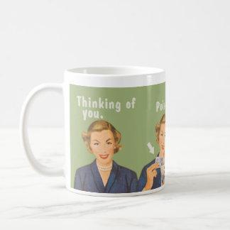 An Sie denken, trinkendes Gift Kaffeetasse