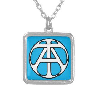 AN/TA Monogramm Halskette Mit Quadratischem Anhänger